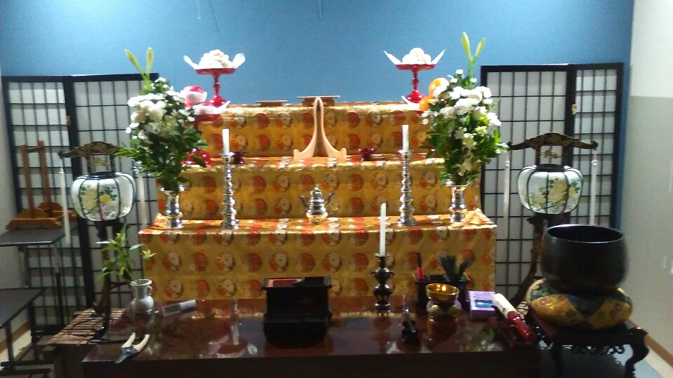49日法要の祭壇
