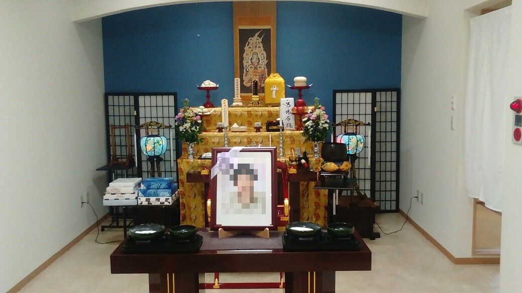 真言宗の49日法要 祭壇