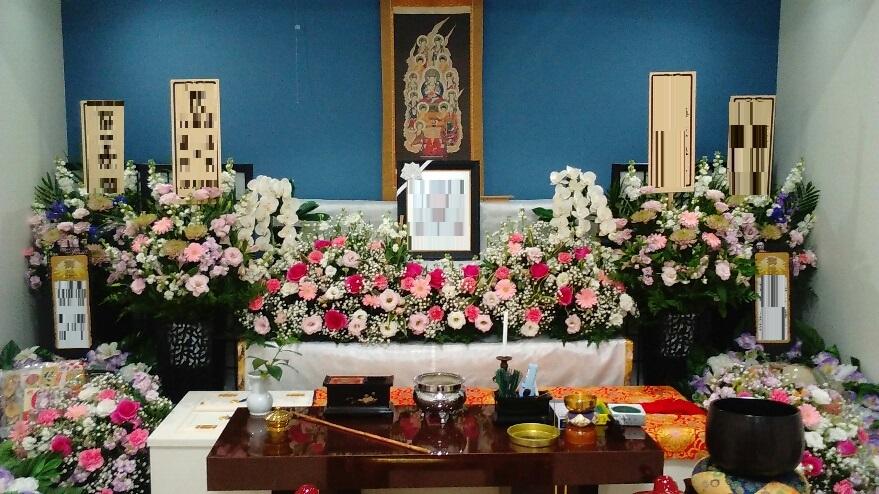 家族葬 生花祭壇