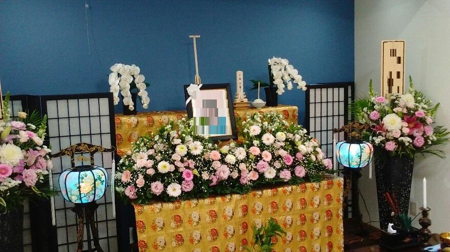 家族葬 一日葬生花祭壇