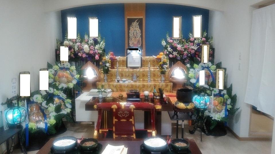 家族葬28プラン 祭壇
