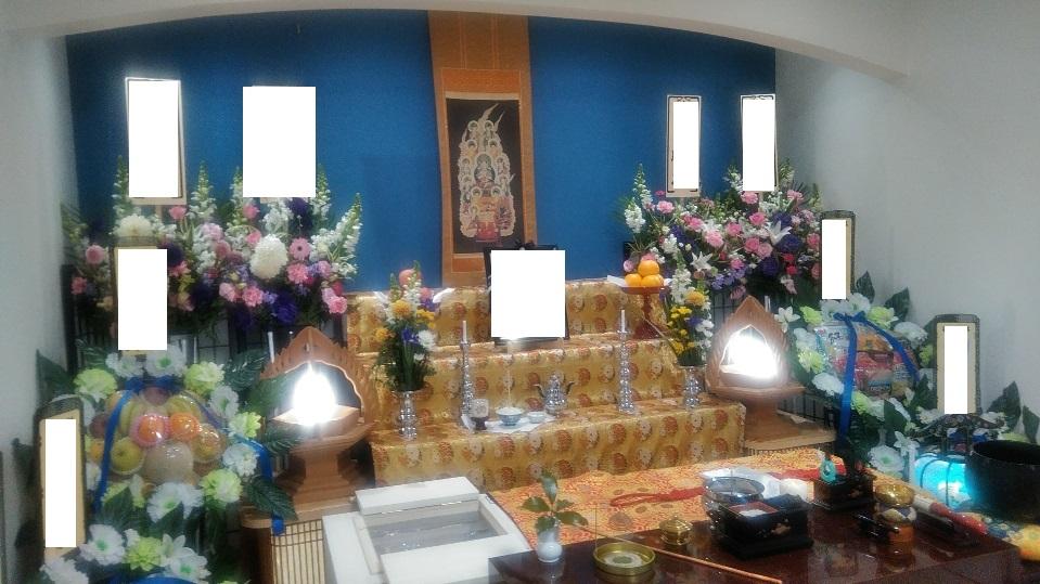 真言宗の家族葬祭壇