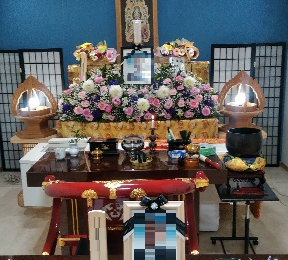 真言宗のお花祭壇