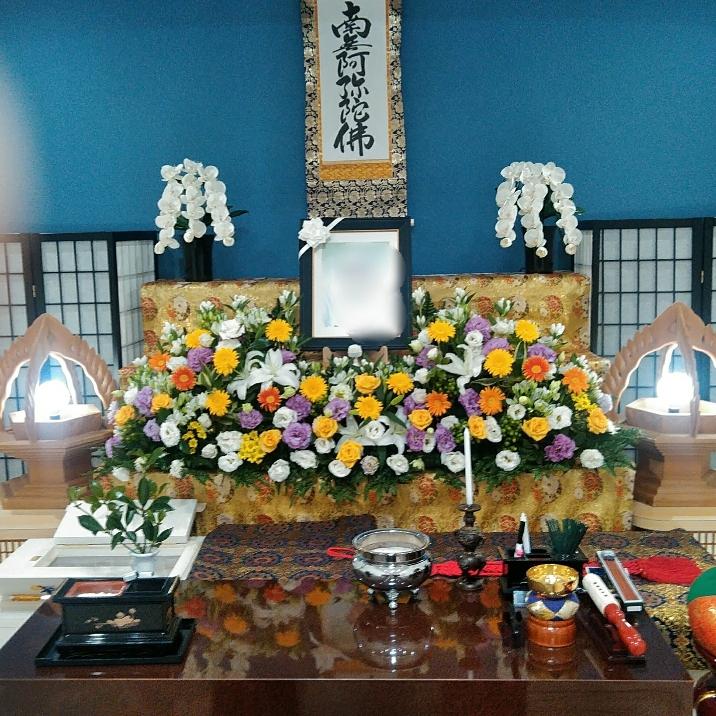 浄土真宗一日葬生花祭壇