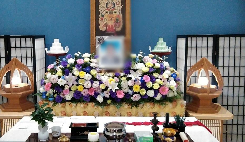 真言宗家族葬 生花祭壇